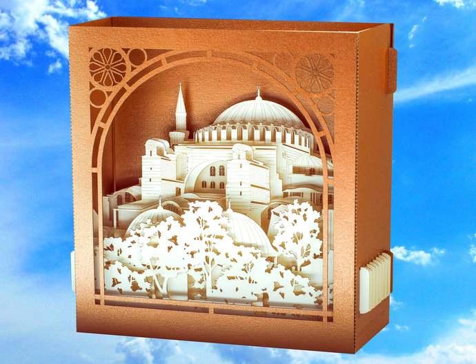 Turkey Hagia Sophia Istanbul. Ayasofya Mosque Muslim gift. Muslim Art paper