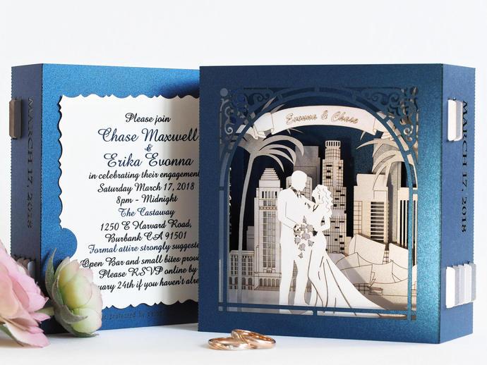 Wedding favors Custom design gift Anniversary USA Los Angeles wedding pop-up