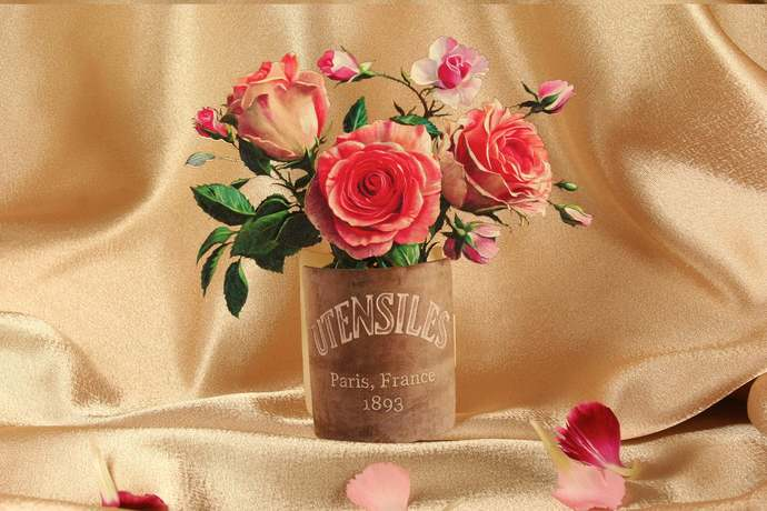 Pop up Roses, 3d Roses, flower kirigami origami Paper roses craft Rose Bouquet