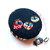 Measuring Tape Owls on Navy Blue Small Retractable Tape Measure