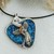 One of a Kind Silver Dichroic Glass Angel Necklace & Earrings Set