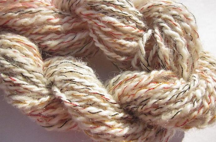 Handspun Wool Rayon Thread 4-ply Unique Novelty Yarn for sale