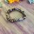 Tigers eye & pink Felspar bracelet