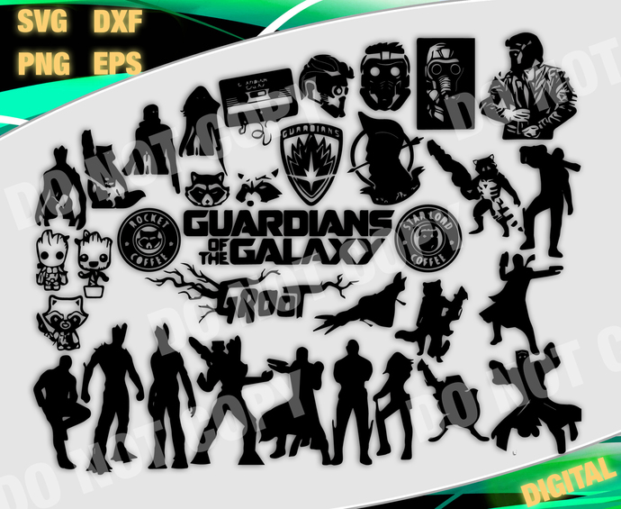 Marvel cut file, Marvel svg, Guardians Of The Galaxy  svg, files for cricut,