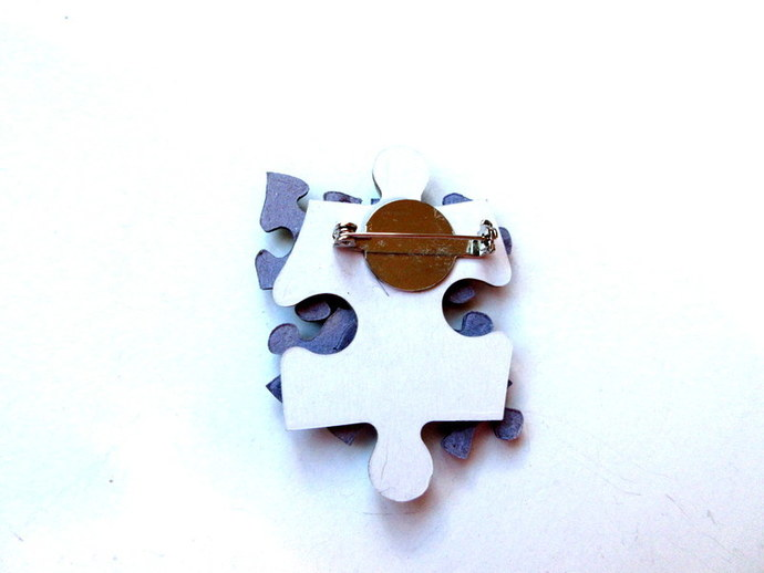 Life's A Puzzle Pin Free US Shipping