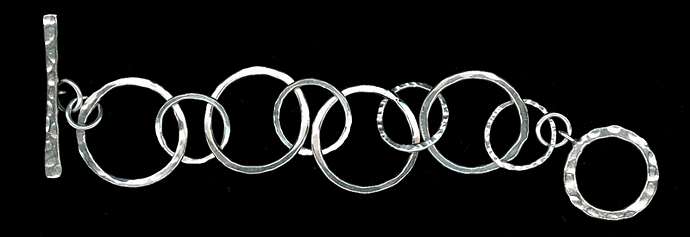 Fine silver bracelet