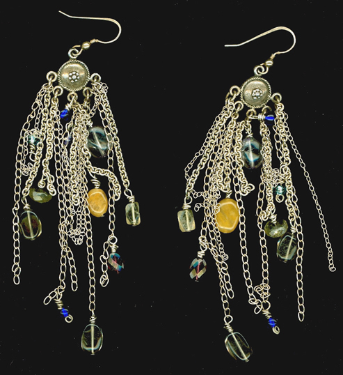 Multi Chain Earrings