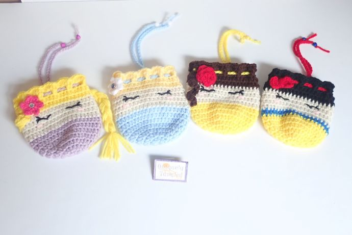 Princess Trinket Pouches/Bags- Crochet Pattern PDF