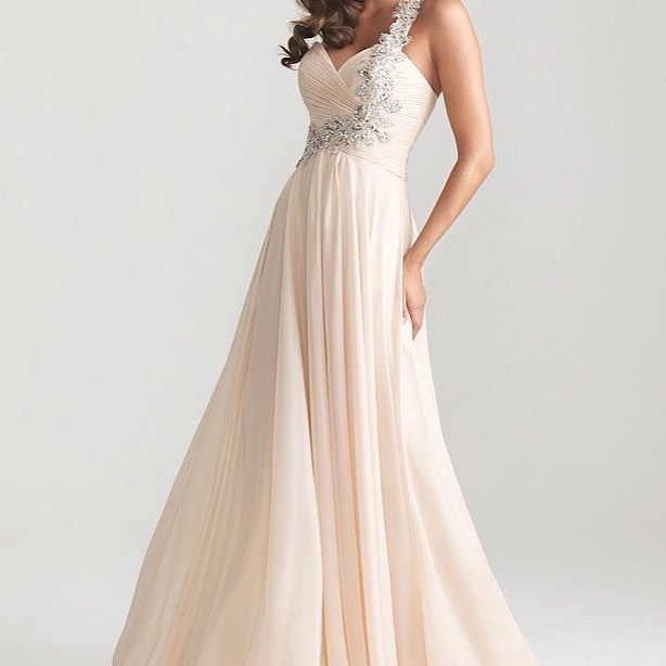 Charming Prom Dress,Appliques Prom Gown, Chiffon Prom Dress, A-Line Prom Gown