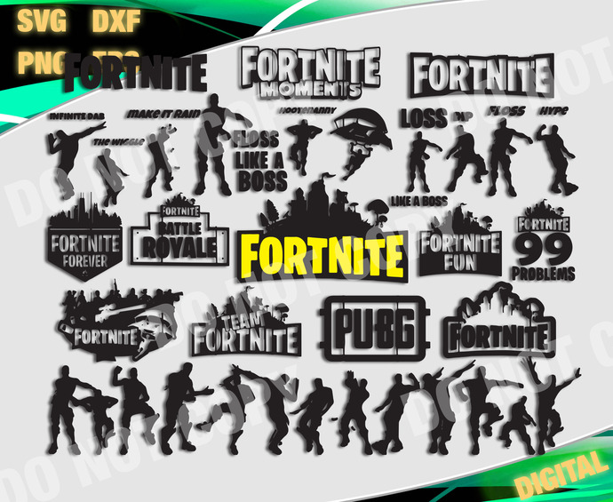 Fortnite  cut file, Fortnite svg, Fortnite svg, files for cricut, svg, dxf,