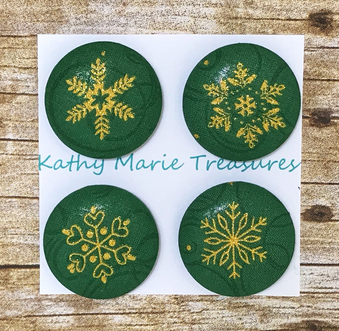 Gold snowflake magnet sets, Christmas gift for coworkers office, Stocking