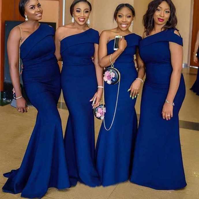 One Shoulder Bridesmaid Dresses Pageant Dress