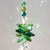 Crystal Suncatcher Cluster Turtle Charm