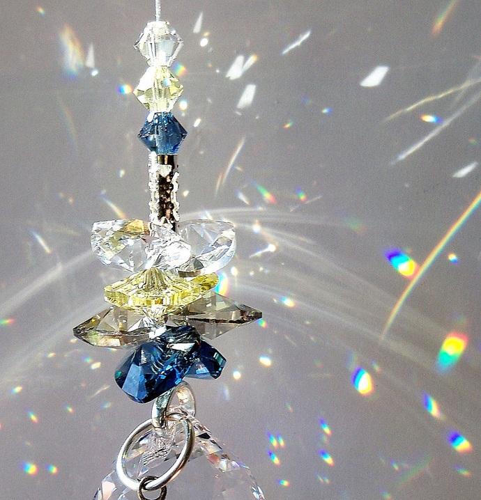 Crystal Suncatcher Cluster Lighthouse Charm