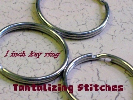 15 one inch nickel plated split rings / key rings