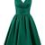 Elegant V Neck Green Short Homecoming Dresses Prom Cocktail Dress