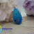 Delicate handpainted Fantasy Flower garden wood pendant teal handmadejewelery