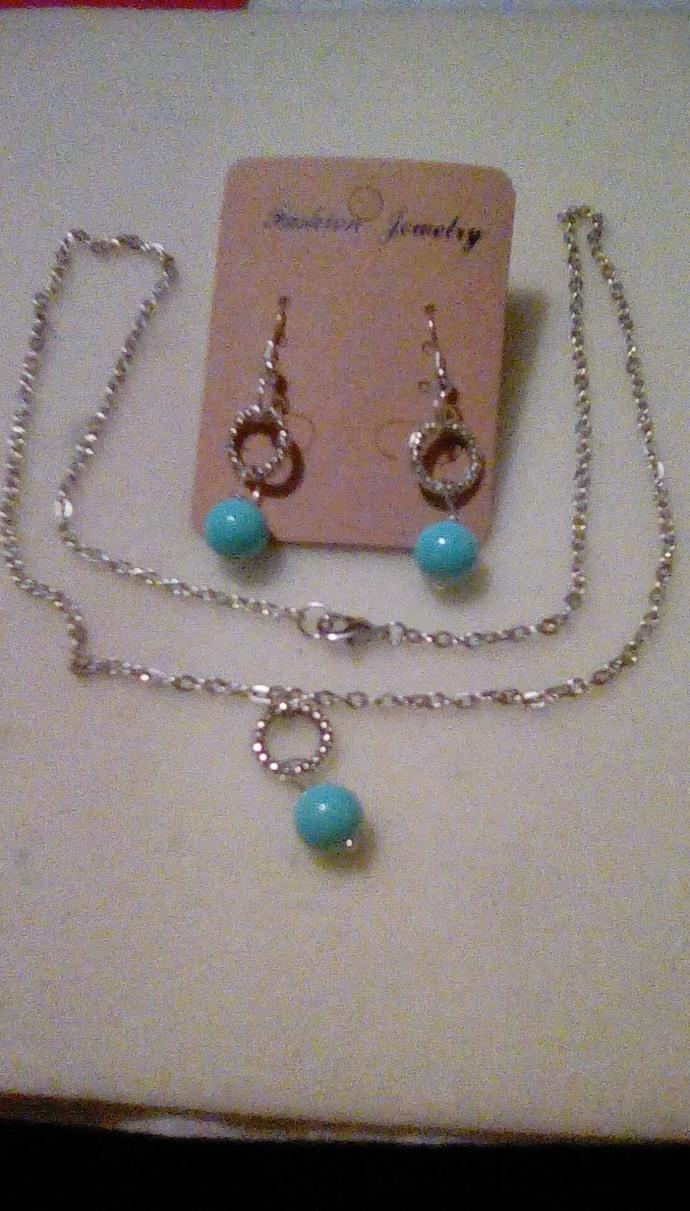 Around The World Necklace & Earrings, Handmade Jewelry,