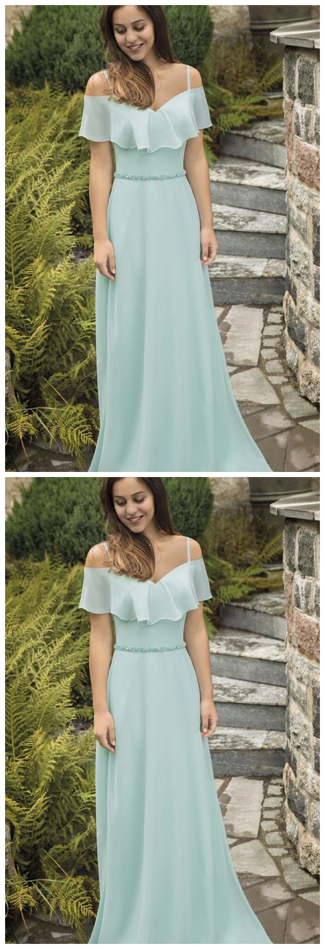 2019 light green long prom dress