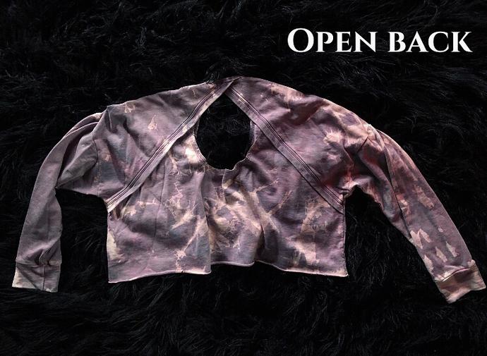 Oversized cropped/open back sweatshirts