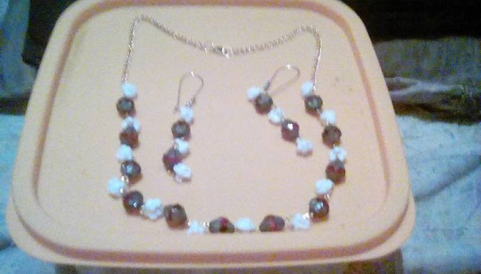 White Roses, Handemade, Jewelry Sets