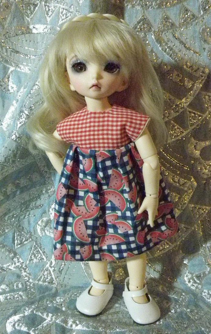 Littlefee dress with watermelons