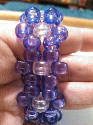 Pony Beads Bracelets, Handmade, Beaded Bracelets