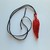 Fused Glass Feather Necklace, Red