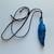 Fused Glass Feather Necklace, Aqua