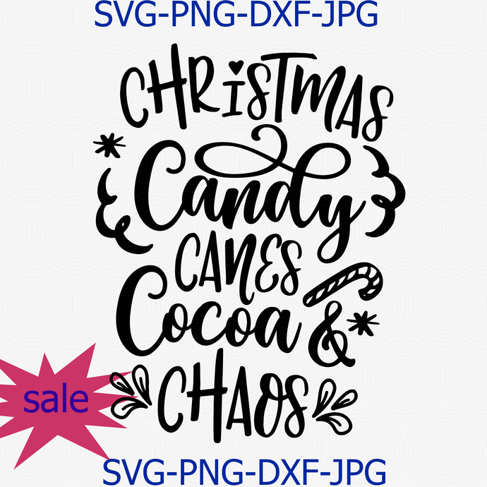 Christmas Candy Canes Cocoa And Chaos Svg Png By Digital4u On Zibbet