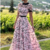 A Line Round Neck Short Sleeves Prom Dresses with 3D Flowers,1919