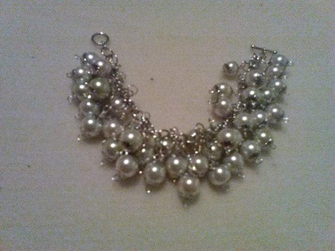 Multi-Pearl Bracelet, Handmade Bracelet,