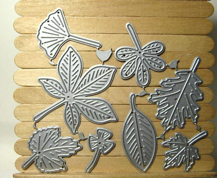 8pc Leaves Metal Cutting Die Set