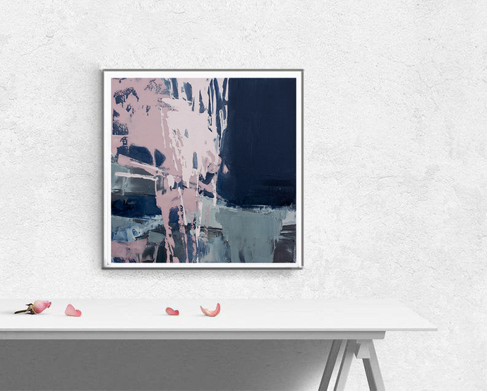 Digitat abstract, contemporary art, scandinavian , mint, PRINTABLE , Abstract