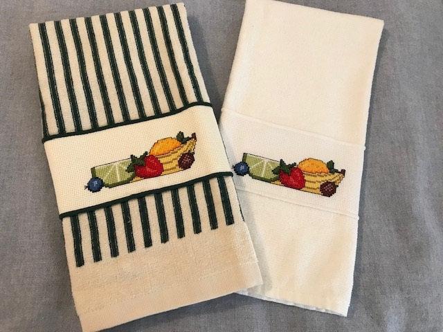 Cross Stitch Kitchen Towel - FRUITS, FRUITS, FRUITS - Kitchen Decor