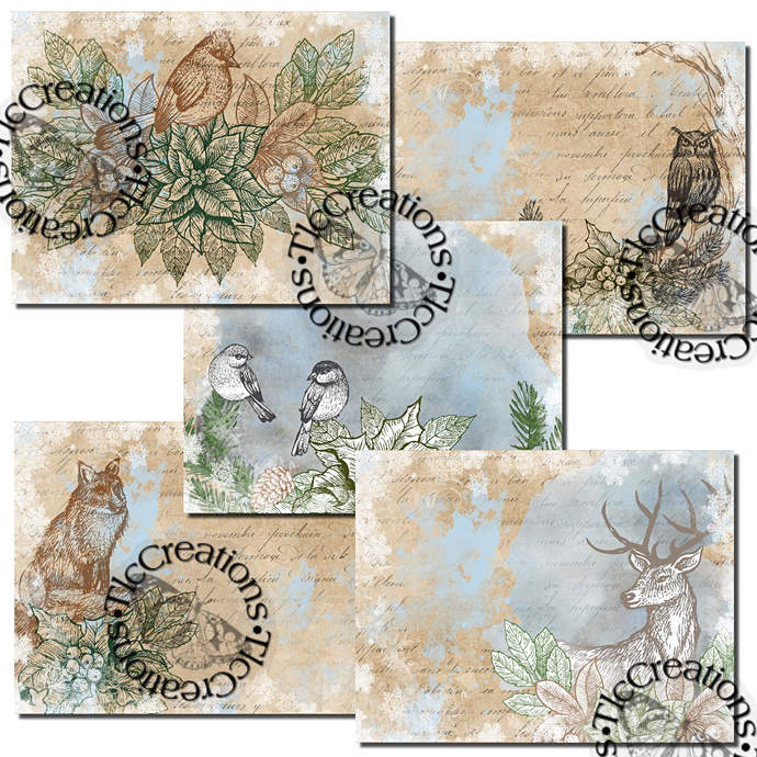 Winter's Nature Digital Printable Junk Journal Kit Scrapbook