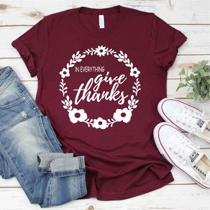 In everything give thanks svg, thanksgiving, thanksgiving svg, happy