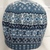 Fairisle beret hand knitted in pure wool/wool blend