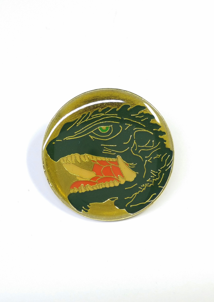 1999 Gamera 3 The Revenge of Iris Pin Badge (03) - Japan Import - Rare