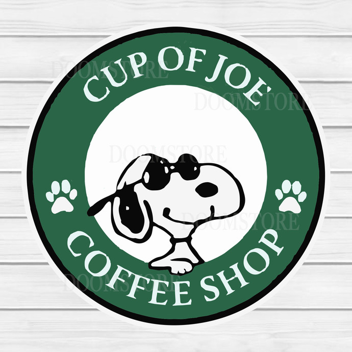 Snoopy cut file, Snoopy SVG,Cup Of Joe Coffee Shop Snoopy Christmas, Instant