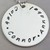 """1"""" Stamped Sterling Silver Pendant (Handwritten Font)"""