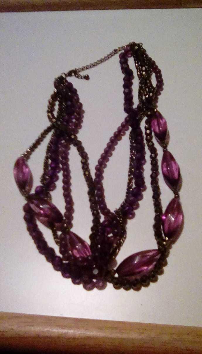 Purple Multi-Strand Necklace