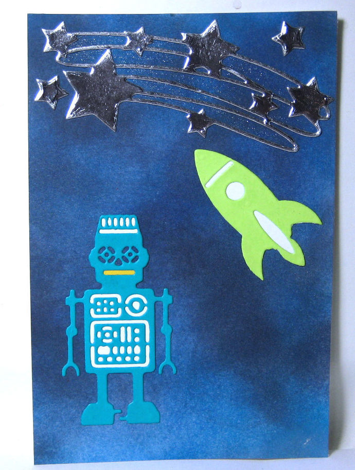 3pc Spaceman Robot Ship and Stars Metal Cutting Die