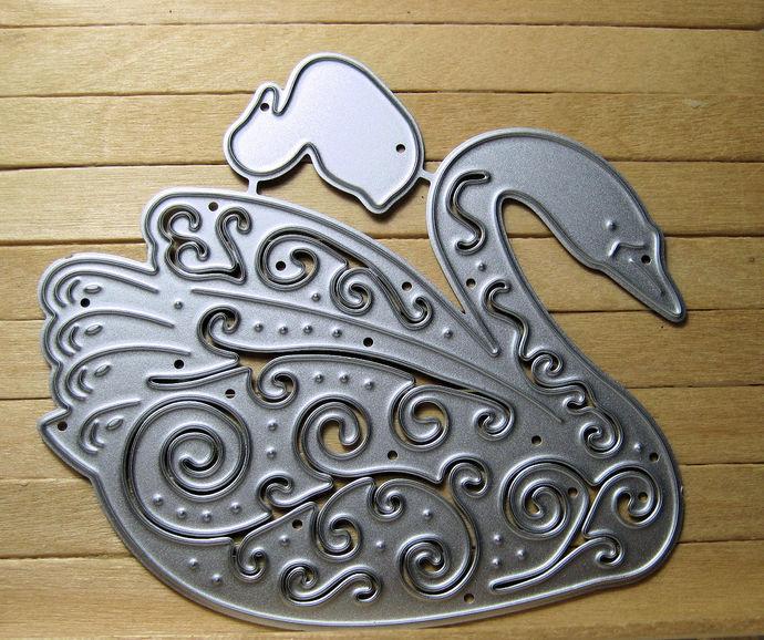 2pc Fancy Swan Bird Cutting Die Set