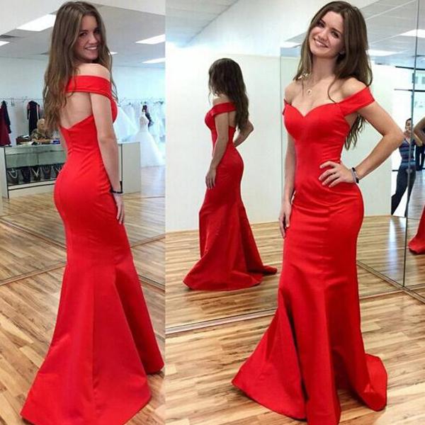 Prom Dresses,sexy Prom Dress,red Prom Dress Mermaid Prom Dress