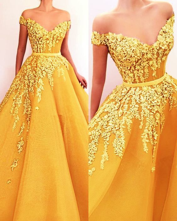 formal dress,tulle prom dress,elegant evening gown,appliques prom dress