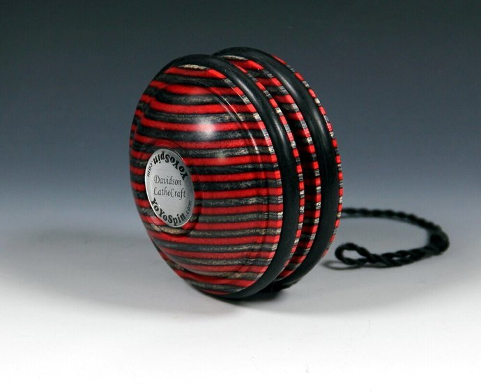 Laminated Hardwood Handmade Yo-Yo: Fixed Axle Satellite