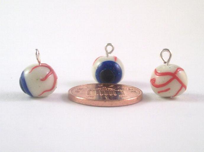 Glow in the Dark Eyeballs Stitch Markers - set of 6