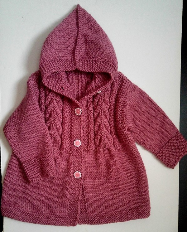 Hand made Knitted coat for girls, very light.Free shipping