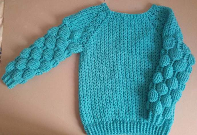 Knitted sweater   for children.Free shipping